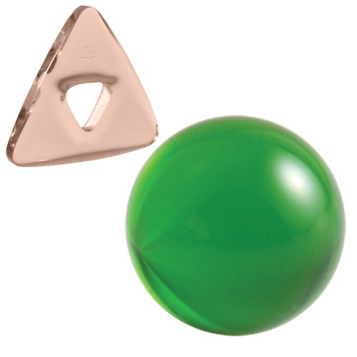 Herzheilungs-Set: BioTrinity Pink + Silizium-Kugel Smaragdgrün + 1 BioTrinity Silberanhänger GRATIS