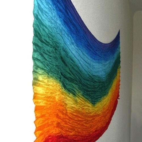 Regenbogen-Seidenschal
