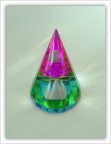 Rainbow-Tipi grün/pink